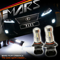 MARS High Power Projector LED White Fog Light bulbs for Lexus IS250 IS350 XE20