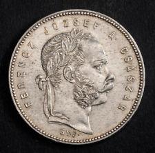 1869-GYF, Kingdom of Hungary, Francis Joseph I. Silver Forint Coin. Karlsburg!