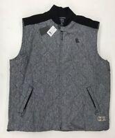 Crooks&Castles Black Grey Twill Mens Sample Vest Size 3XL Nice New Rare