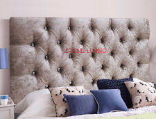"""HEADBOARD BED HEAD CHESTERFIELD CRUSHED VELVET 36"""" - SMALL DOUBLE KING SUPERKING"""