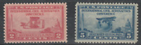 US 1928 INTERNATIONAL CIVIL AERONAUTICS CONFERENCE PAIR COMMEMORATIVE STAMP MNH