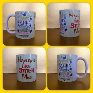 personalised mug cup lilo and stitch ohana means family left behind gift present