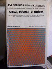 Levi Strauss Leiris Klineberg RAZZA SCIENZA E SOCIETA' ed. Newton 1979