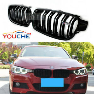 Gloss Black Front Kidney Grille for BMW F30 F31 320i 328i 330i 335i Hood 2012-18