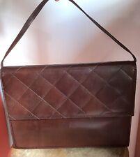 Borsa Tracolla Pelle Cuoio Vintage Anni 70 Italia Bag Leather