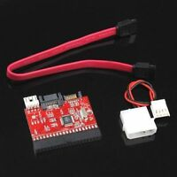 2in1 IDE to SATA Serial ATA/SATA to IDE ATA 100/133 Adapter Converter +Cable New