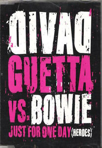 BOWIE   VS   DAVID   GUETTA    JUST   FOR   ONE   DAY  (HEROES)    MAXI   CD