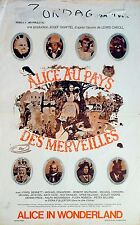 ALICE'S ADVENTURES IN WONDERLAND 1972 Spike Milligan, Peter Sellers BELGIAN