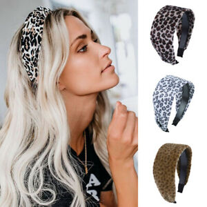 Women's Leopard Wide Headband Hairband Hair Hoop Band Accessories Wrap Headpiece