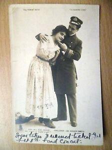 WW1 Theatre Postcard- Evie Green,Havden Coffin:You Hav't Kissed Me Yet(Stamp