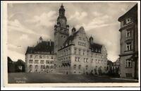 DÖBELN Sachsen 1942 Dt. Reich AK Strassen Partie am Rathaus Verlag Trinks & Co.