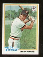 Glenn Adams #497 signed autograph auto 1978 Topps Baseball Trading Card