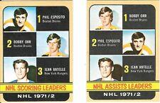1972-73 Topps Orr Esposito #62 #63 Mint Beauty
