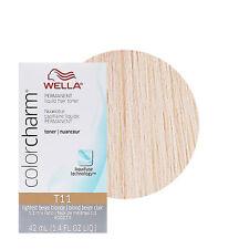 Wella Color Charm Permament Liquid Hair Color Toner Lightest Beige Blonde T11