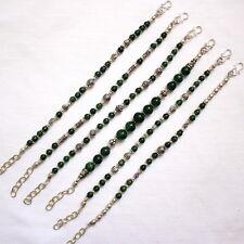 BRACELET NATURAL GREEN AVENTURINE GEMSTONE BEADED HANDMADE 6 PIECES ALL 58 GRAMS