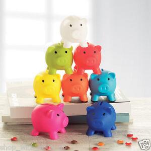 PIGGY BANK - Money Box For Saving Coins & Cash Fun Gift Plastic Novelty Pig Safe