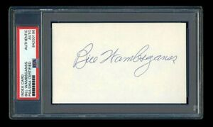 BILL WAMBSGANSS SIGNED MINT INDEX CARD PSA/DNA 1920 CLEVELAND INDIANS CHAMPIONS