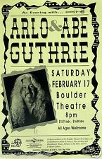 Arlo & Abe Guthrie 1996 Colorado Concert Poster - Folk Rock Music
