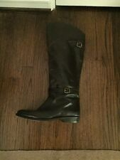 FRYE DORA Riding Boots buckles Brown Size 9 Women's Leather Fall