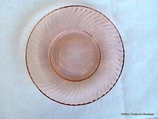 Federal Diana Pink Depression Bread & Butter/Desert Plate Swirled Ribbed