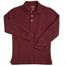 Polo Shirt School Uniform Burgundy Size 4 French Toast Long Sleeve Pique New