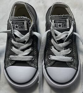 Boys CONVERSE Gray Shoes Baby Toddler Size 7 FREE SHIPPING
