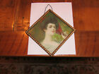 Antique Victorian Flue Cover Lady with Fan!