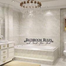 Hot Bathroom Rules Vinyl Wall Art Decal Toilet Home Sticker Lettering Decor