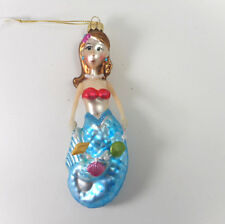 Frosted Mermaid Glass Ornament Gallarie Ii 72703