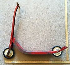 Vintage 1940's 50s Radio Flyer Metal Push Scooter Very Nice For Wall Decor