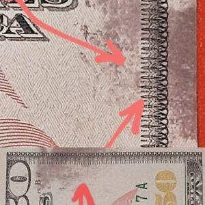 2013$50 ERRORS MISPRINT & INK SMEAR  -NOTE