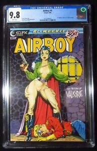 Airboy #5 1986 (Eclipse) CGC 9.8...Dave Stevens Valkyrie cover