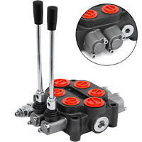 2 Spool 25GPM Hydraulic Valve 3000PSI Log Splitters Hydraulic Pump Double Acting