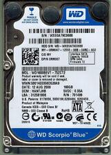 "Western Digital WD1600BEVT - 75ZCT2 0RM067 160Gb 2.5"" Laptop SATA Hard Drive"