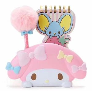Cute My Melody Pen Holder Container Office Desktop Organizer c/w Pen Note Book