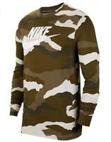 Nike Long Sleeve Shirt Mens Medium or XL Green Camouflage Authentic Sportswear