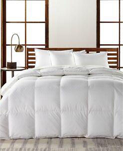 Hotel Collection FULL/QUEEN Goose Down Comforter Light Weight European J0Z067