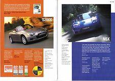 Honda Press Comments 2003-04 UK Market Brochure Jazz Civic Accord S2000 NSX CRV