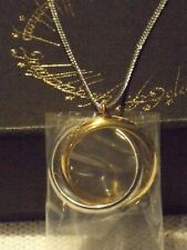 "Lord of the Rings One Ring Entwined Necklace by Noble Stainless Steel 18"" Chain"