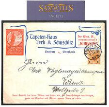 MS1575 1904 AUSTRIA JUGENDSTIJL ADVERT *Germania Linoleum* Vignette Cover SCARCE