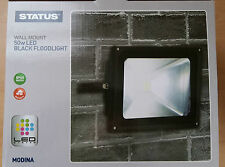 Black LED Flood Light Lamp 50w Wall Mounted Security Great Value!