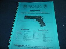 LLAMA  9MM,  AUTOMATIC PISTOL  MANUAL,    6 Pages