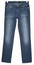 Levis SLIM LEG Slight Curve DARK BLUE Mid Rise Stretch Jeans Size 8 W26 L30