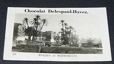 PHOTO CHOCOLAT DELESPAUL-HAVEZ 1950 FRANCE COLONIE AFRIQUE MAROC MARRAKECH