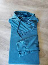 Mens Green/Blue Adidas Climawarm Hoodie Pullover Sweatshirt XL Pockets EUC