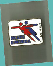 1981 Grand Prix Lake Placid Skate America Skating Lapel Pin EX - SCARCE