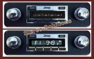 1978-1986 Jeep CJ 5, 7, 8 NEW 200 watt AM FM Stereo Radio Auxiliary Inputs