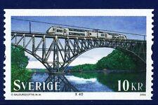 Sweden 2006 Railway bridge and train. MNH