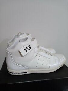 Adidas Y-3 Yohji Yamamoto Moto High Sport Style White Cream Size UK 8