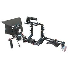 SHOOTVILLA DSLR Camera Cage Shoulder Mount Rig Kit Follow Focus Matte box SV-03